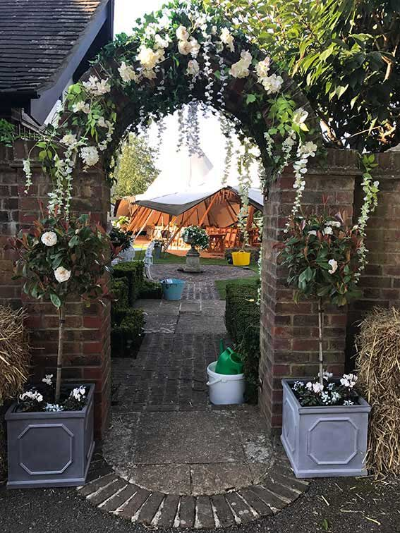 Stunning wedding entrance.